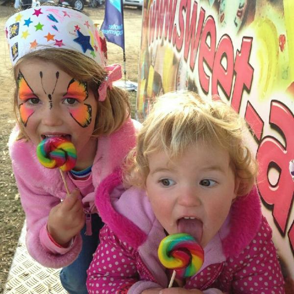 Sweet-As fans with our raspberry rainbow lollipops