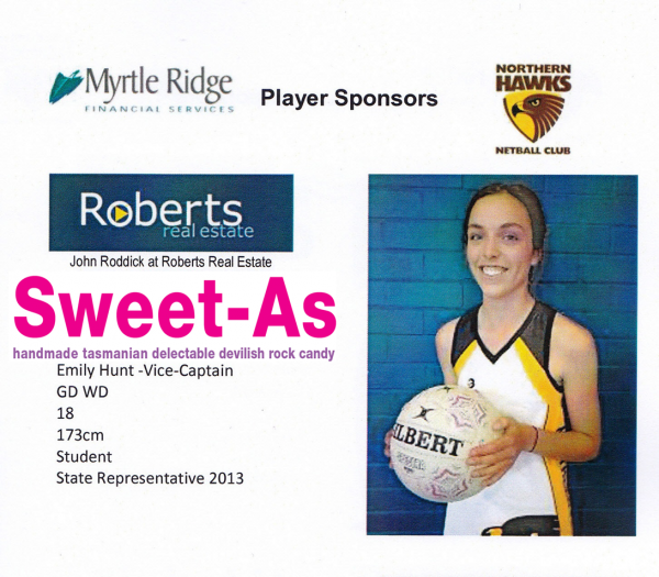 Northern Hawks Netball Team Sponsorship